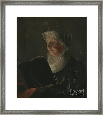 By Candlelight Framed Print by Samuel Finley Breese Morse
