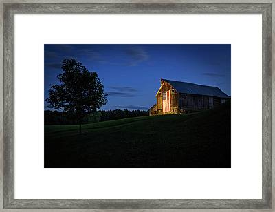 Old Glory By Dusks Early Light Framed Print