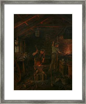 By Hammer And Hand All Arts Doth Stand Framed Print