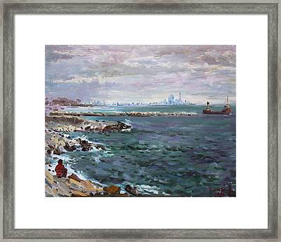 By Lakeshore Mississauga Framed Print by Ylli Haruni