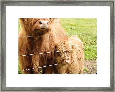 Framed Print featuring the photograph By Mama's Side by Christi Kraft