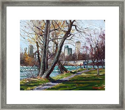 By Niagara River Framed Print