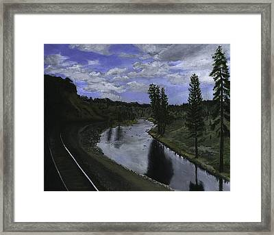 By Rail Framed Print