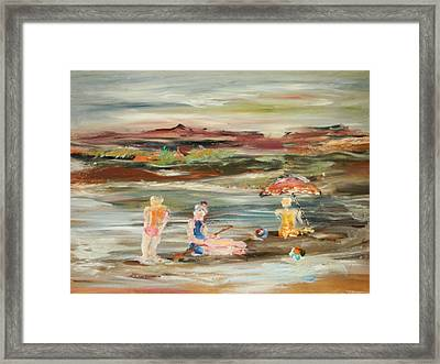 By The Beach Framed Print by Edward Wolverton