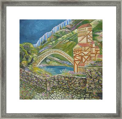 By The Bridge Framed Print by John Keaton