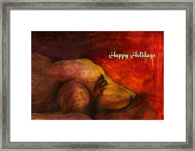 By The Fireside Framed Print by Amber Sauls