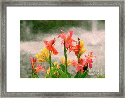 By The Fountain Framed Print