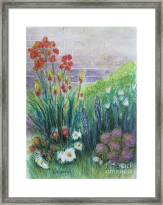 By The Garden Wall Framed Print