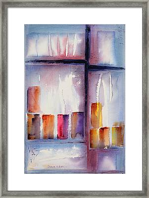 By The Glass Framed Print by Diana Wade