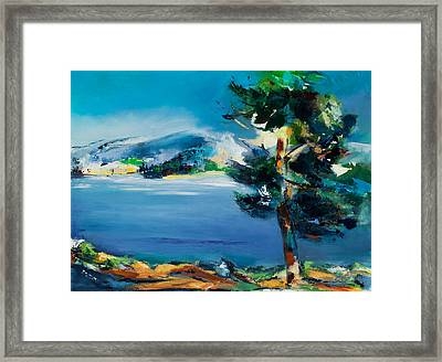 By The Lake Framed Print by Elise Palmigiani