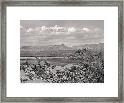 By The Lake Monochrome Framed Print