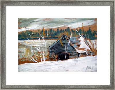 By The Lake Framed Print by Norman F Jackson