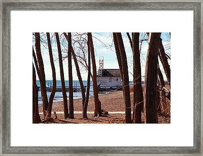 Framed Print featuring the photograph By The Lake by Valentino Visentini