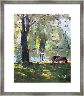 By The Lake  Framed Print by Ylli Haruni