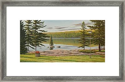By The Lakeside Framed Print