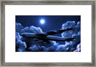 By The Light Of The Blue Moon Framed Print by Dave Luebbert