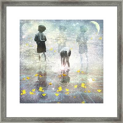 By The Light Of The Magical Moon Framed Print