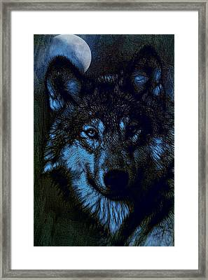 By The Light Of The Moon - Tied For 2nd Place Framed Print by EricaMaxine  Price