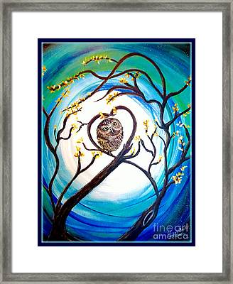 By The Light Of The Moon I Will Find You Framed Print by Kimberlee Baxter