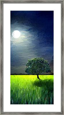 Framed Print featuring the painting By The Light Of The Moon by James Shepherd