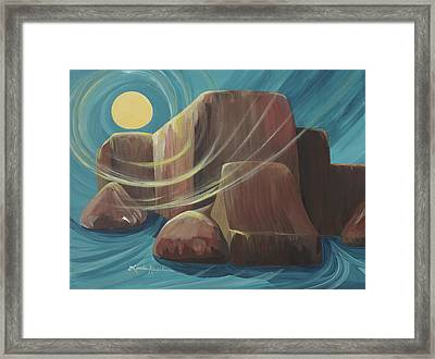 By The Light Of The Moon Framed Print by Linda Rauch