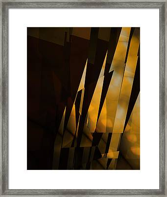 By The Light Of The Setting Sun Framed Print by Vic Eberly