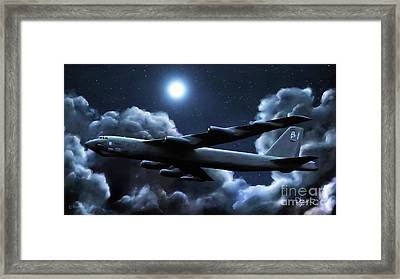 Framed Print featuring the painting By The Light Of The Silvery Moon by Dave Luebbert