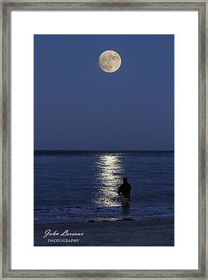 By The Light Of The Supermoon Framed Print