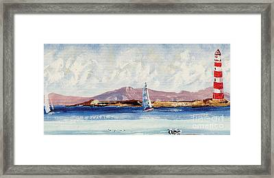 By The Lighthouse Framed Print