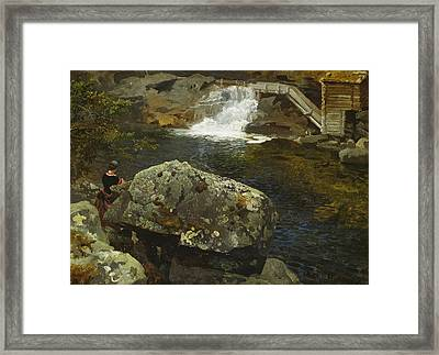 By The Mill Pond Framed Print
