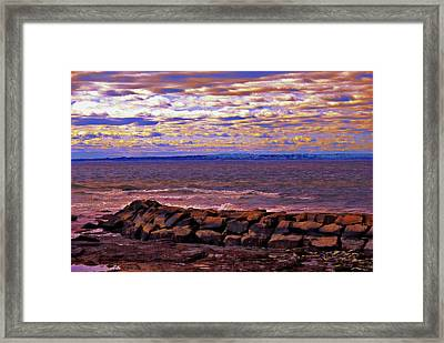 By The Ocean In Newport, Rhode Island  Framed Print