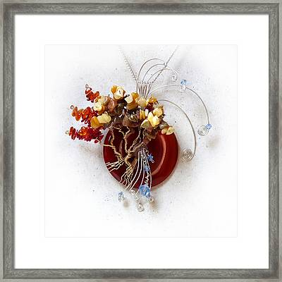 By The Rapids Framed Print by Rhonda Chase