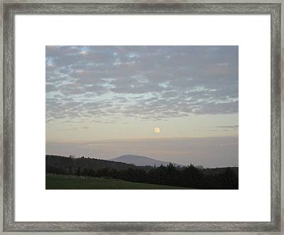 Framed Print featuring the photograph By The Rising Of The Moon by Suzanne Oesterling