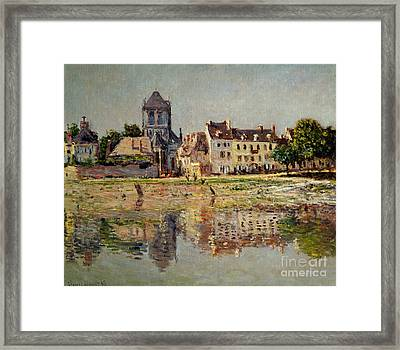 By The River At Vernon Framed Print