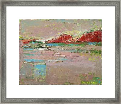 By The River Framed Print by Becky Kim