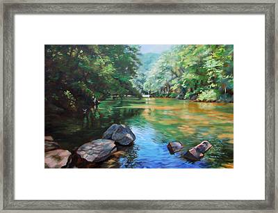 By The River Framed Print by Bonnie Mason