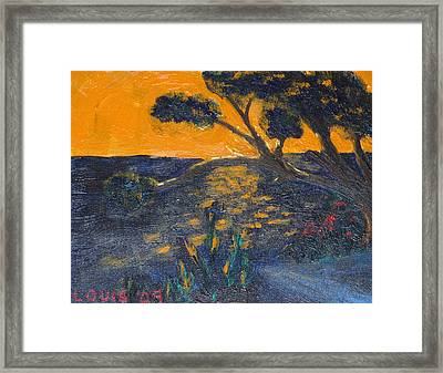 By The River Framed Print by Louis  Stephenson