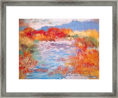 By The River Framed Print by M Diane Bonaparte