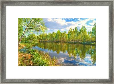 By The River Framed Print by Veikko Suikkanen