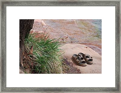 Framed Print featuring the photograph By The Riverside by Barbara MacPhail