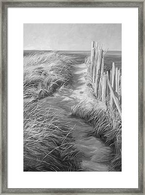 By The Sea - Black And White Framed Print