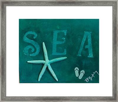 By The Sea Framed Print by Bonnie Gantnier