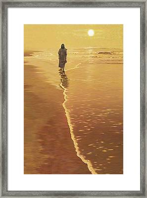 By The Sea Framed Print by Larry Cole