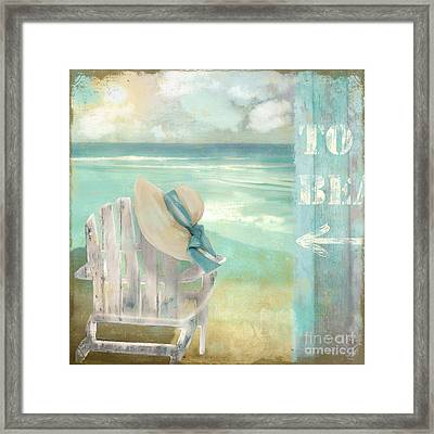 By The Sea Framed Print by Mindy Sommers