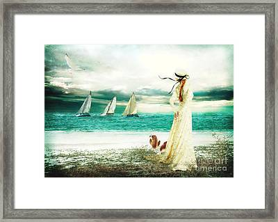 By The Sea Framed Print by Shanina Conway