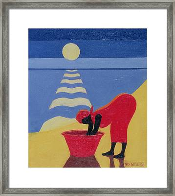 By The Sea Shore Framed Print by Tilly Willis