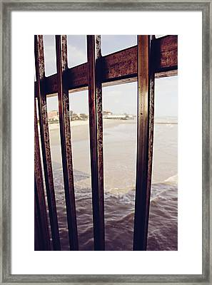 Framed Print featuring the photograph By The Sea by Trish Mistric