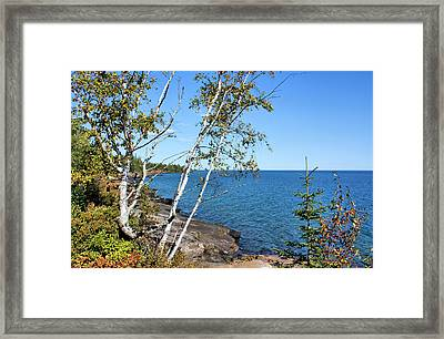 By The Shores Of Gitche Gumee Framed Print