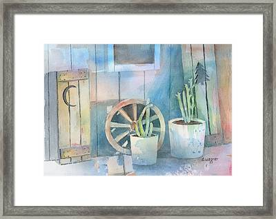 By The Side Of The Shed Framed Print by Arline Wagner