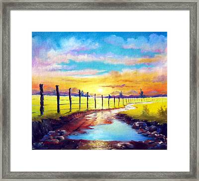 By The Sun In The Field Framed Print by Leomariano artist BRASIL